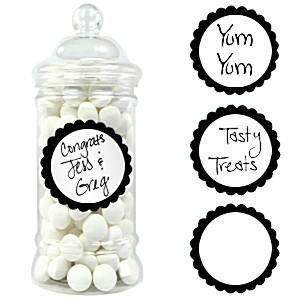Candy Buffet sucré étiquettes - noir (Pack de 20)