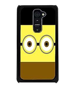 PRINTVISA Minion Funny Case Cover for LG G2