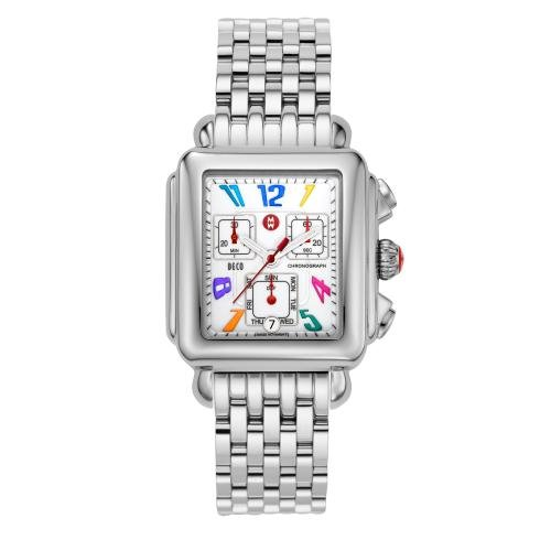 MICHELE Deco Day Carousel Stainless Steel Bracelet
