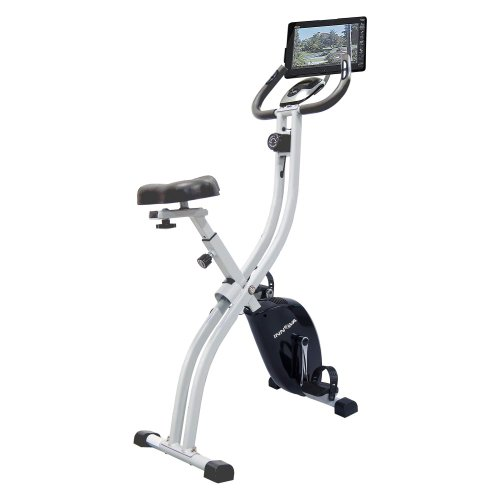 Innova Health and Fitness Folding Upright Bike with iPad/Android Tablet Holder