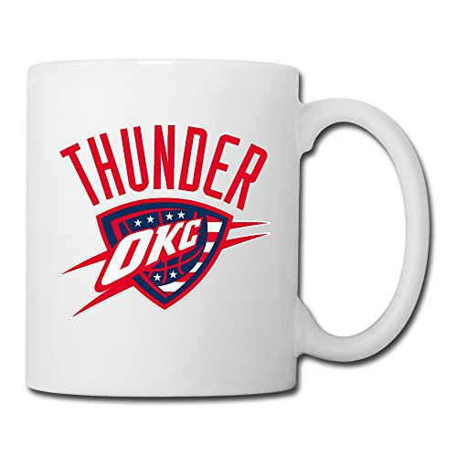 GJNSK OKC Thunder Hoops For Troops Logo Ceramic Mug