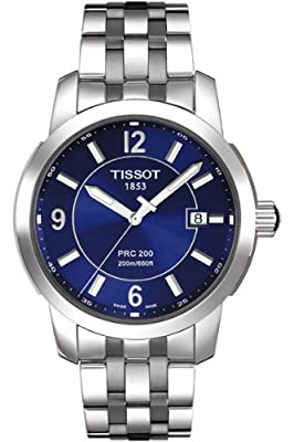 Tissot Men's T0144101104700 PRC 200 Stainless Steel Blue Dial Watch