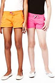 2 Piece Pure Cotton Contrast Drawstring Shorts