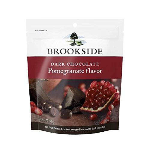 Brookside Dark Chocolate Pomegranate Flavor Candy, 7 Ounce (Pack of 4)