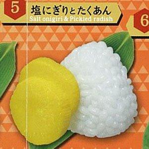 ぷちサンプルシリーズ THEおにぎりマスコット 塩にぎりとたくあん 単品