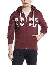 People Men's Cotton Sweatshirt (8907496122273_P10101359383319_XX-Large_Maroon)