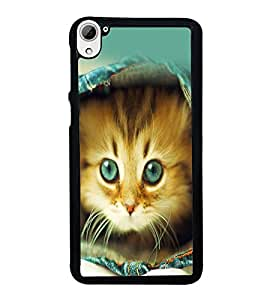 printtech Kitten Jeans Back Case Cover for HTC Desire 826