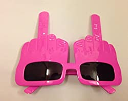 Funcart Pink Middle Finger Sunglasses