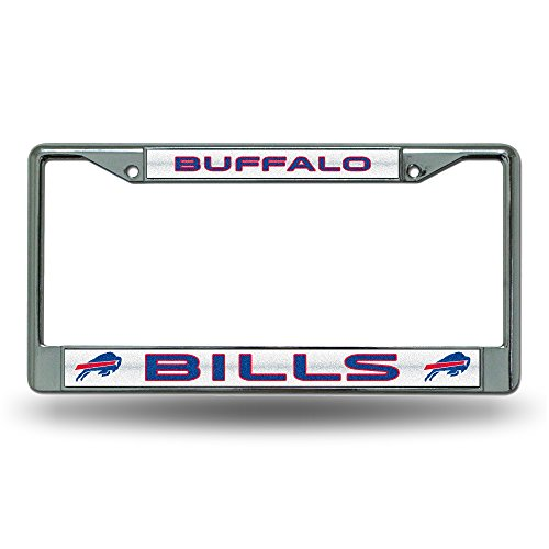 NFL Buffalo Bills Bling Chrome Plate Frame (License Plate Frame Buffalo compare prices)