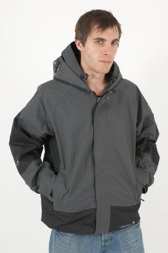 New Mens Location Goggle Rain Hooded Jacket Coat Size S