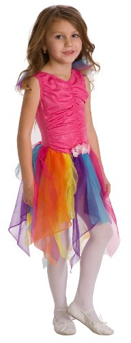 Little Adventures Pink Rainbow Fairy Princess Costume (size 3-5) + Free Hair Bow