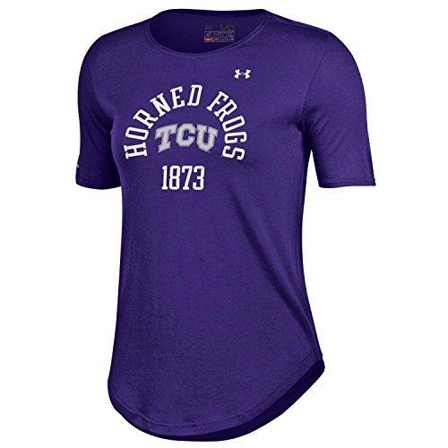 NCAA TCU Horned Frogs Women's 60/40 Crewneck Tee, X-Large, Purple