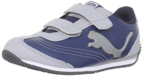 Puma Speeder Illuminescent V Sneaker (Toddler/Little Kid/Big Kid),Denim/Gray/Dark Shadow,7 M US Toddler