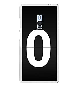 No 0 2D Hard Polycarbonate Designer Back Case Cover for OnePlus 2 :: OnePlus Two :: One +2