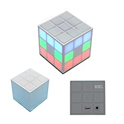 SERVISE4U Mini LED Color Changing Wayzon Magic Rubik\'s Cube Portable Wireless Bluetooth Speaker