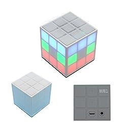 SERVISE4U Mini LED Color Changing Wayzon Magic Rubik\'s Cube Portable Wireless Bluetooth Speaker