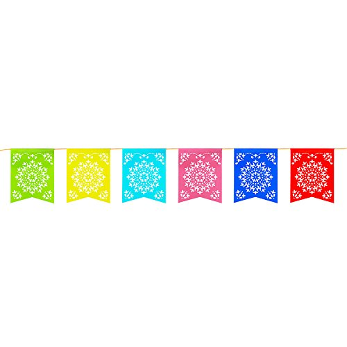 Find Discount 12 Foot Long Rainbow Multicolored Flag Mexican Sun Del Sol Design Plastic Garland Drop...