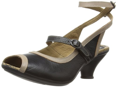 Fly London Womens Fall Fashion Sandals P143065006 Black/Mushroom 8 UK, 41 EU