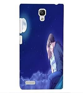 ColourCraft Loving Couple Design Back Case Cover for XIAOMI REDMI NOTE 4G