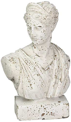 Howard Elliott 95006 Old World Female Ceramic Bust Sculpture