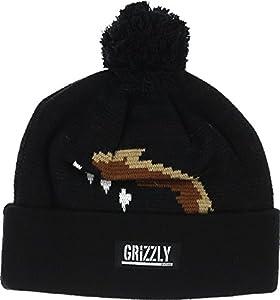 Grizzly Paw Pom Black / Black Beanie