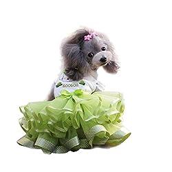 YiZYiF Pet Puppy Small Dog Cat Tulle Skirt Princess Tutu Dress Summer Clothes Apparel