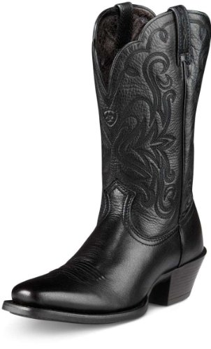 Women's Ariat 11 inch Legend Western Boots Black Deertan, BLK DEERTAN, 11