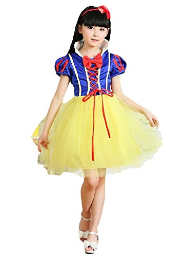 [SPJ: Snow White Style Dress Princess Kids Costume Halloween (120cm)] (Super Deluxe Mermaid Costumes)