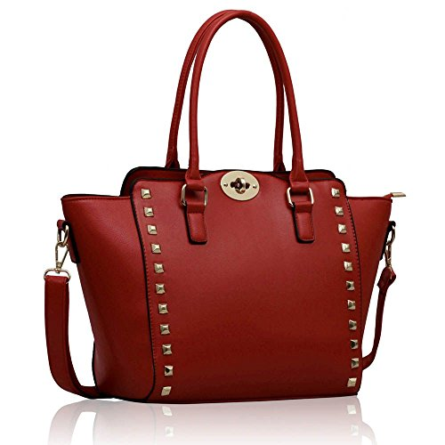tote-bag-for-women-ladies-celebrity-style-faux-leather-top-handle-handbags-b-red