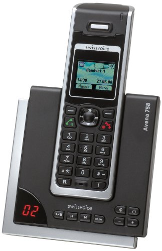 Swissvoice Avena 758 Cordless Phone with Answering Machine ( DECT,Hands Free Functionality, SMS Function, Low Radiation ) images