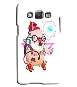 Blue Throat Animal Listening Music Printed Designer Back Cover/ Case For Samsung Galaxy A7