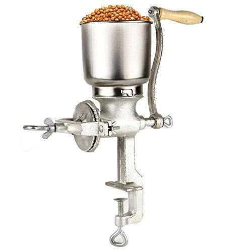 Yosoo Hand-operated Corn Grinder Corn Wheat Coffee Cast Iron Big Hopper Grain Manual Grinder Home Commercial Hand Mill