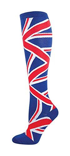 Socksmith Union Jack Knee High Socks,Blue,9-11 (British Flag Union Jack compare prices)