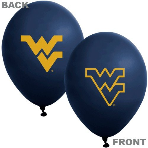 "NCAA West Virginia Mountaineers Navy Blue 10-Pack 11"" Latex Balloons-"