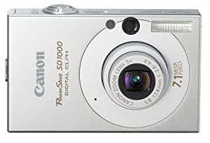 Canon PowerShot SD1000 7.1MP Digital Elph Camera with 3x Optical Zoom (Silver)