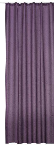 Übergardine Dekoschal #256 Vorhang blickdicht / lichtdurchlässig Kräuselband Gardine moderne Unifarbe (violett, Kräuselband / Universalband)