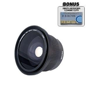 .. .42x HD Super Wide Angle Panoramic Macro Fisheye Lens For The JVC Everio GZ-MG680, MG670, MG630, MG465, MG435, MG365, MG360, MG335, MG330, MG230 High Definition Camcorders