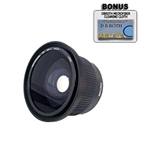 .. 0.42x HD Super Wide Angle Panoramic Macro Fisheye Lens For The Nikon D5000, D3000 Digital SLR Cameras Which Have Any Of These (18-55mm, 55-200mm, 50mm) Nikon Lenses