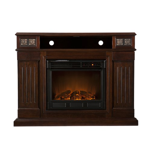 Southern Enterprises Cameron Glen Media Espresso Electric Fireplace photo B005SDWV24.jpg