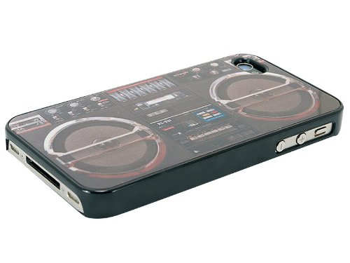 Ghetto Blaster Iphone 4 Case By Rocketcases - Boombox Iphone 4 Case - Slim Fit Retro Case - Iphone 4S & Iphone 4 Compatible - Models: Black & Grey - At&T, Verizon, Sprint, Unlocked (Black)