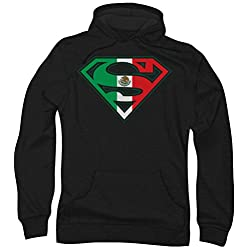 Superman Mexican Flag Shield Pullover Hoodie