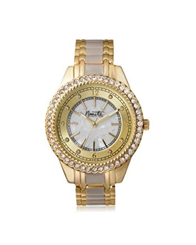 Nanette Lepore Women's 80713 Taupe/Mother of Pearl Alloy Watch