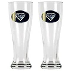 MLB San Diego Padres Two Piece 16-Ounce Pilsner Glass Set by Great American Products