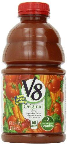 V8 Original 100% Vegetable Juice, 32 Ounce Bottles (Pack Of 8) front-624861