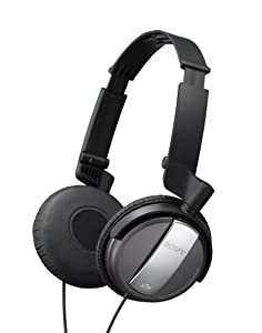 Sony MDR-NC7/BLK Noise Canceling On-Ear Headphones