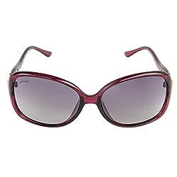Walnut Blue Round Frames Sunglass For Women