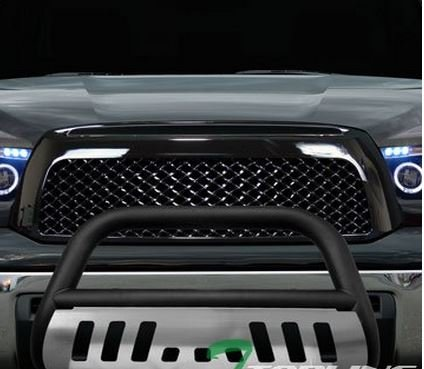 MATTE BLACK HAMMERED Stainless Steel Bull Bar Brush Bumper Grille Guard Skid Plate TUNDRA/SEQUOIA (R 32 Grill compare prices)