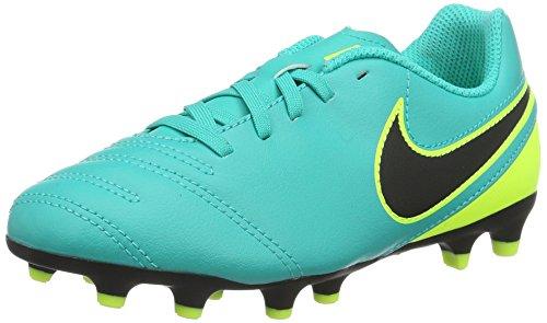 Nike Tiempo Rio Iii Fg, Scarpe da Calcio Unisex - Bambini, Turchese (Clear Jade/Black-Volt), 32 EU