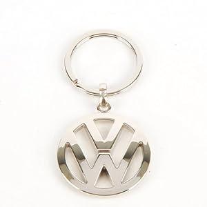 Volkswagen Metal Key Chain Keyring Fob Silver by Volkswagen