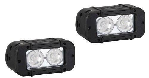 """Virile Industries Pair Of 5"""" 20 Watt (1720 Lumen) Single Row Led Light Bar For Offroad And Marine Applications"""